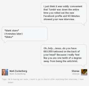 "A ""Conversation"" Between Me and Mark Zuckerberg via Bnter"